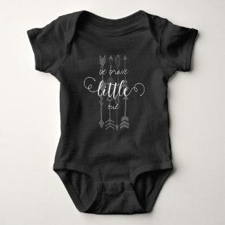 Be Brave Little One Arrow Pattern Baby Bodysuit