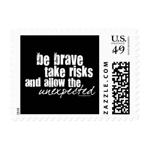 Be Brave Take Risks Postage Stamps