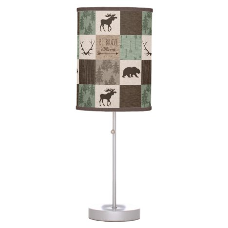 Be Brave Woodland Lamp - Green/Brown