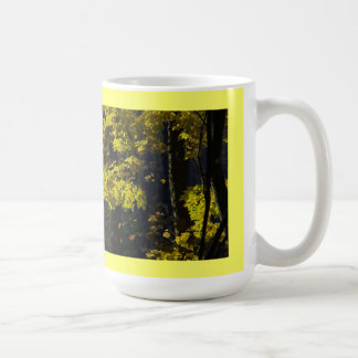 Be Calm, Carry On, Yellow Maple Leaves Mug