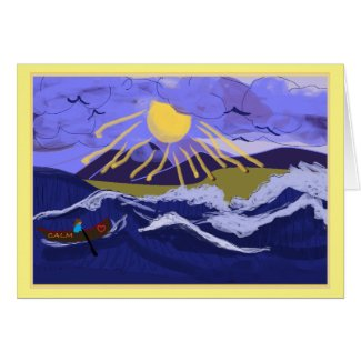Be Calm In The Storm Inspirational Greeting Card