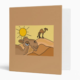 BE- Camel in the Desert Folk Art Binder
