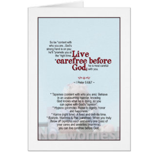 Be Carefree - I Peter 5 & 6 Card