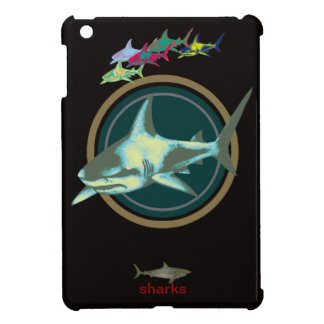 be careful, danger sharks iPad mini cover