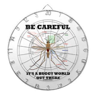 Be Careful It's A Buggy World Out There (Mosquito) Dartboard
