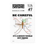 Be Careful It's A Buggy World Out There (Mosquito) Postage