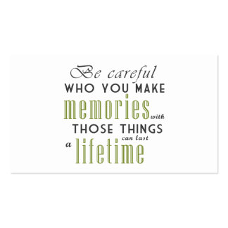 Be Careful Making Memories With Psychologist Card Business Card