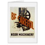 Be Careful Near Machinery 1939 WPA Card