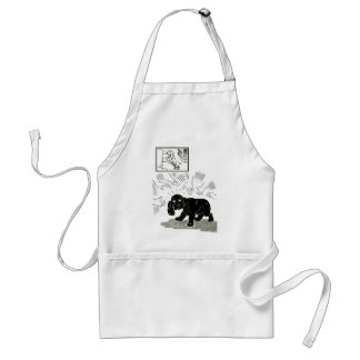 Be Careful w. Puppies, Vintage Adult Apron