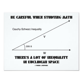 Be Careful When Studying Math Inequality Euclidean Card