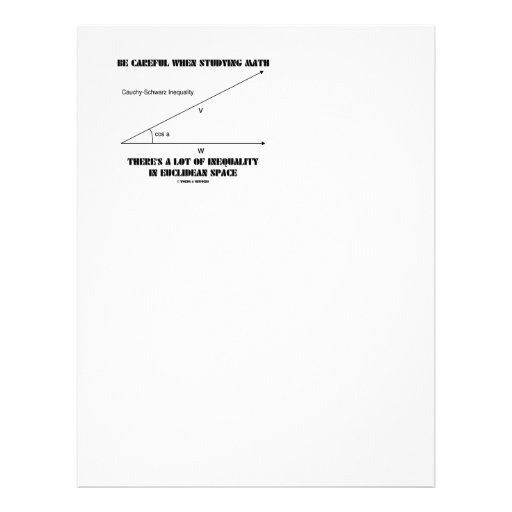 Be Careful When Studying Math Inequality Euclidean Customized Letterhead