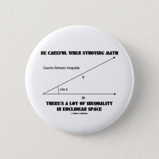 Be Careful When Studying Math Inequality Euclidean Pinback Button