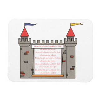 Be careful with your thoughts...your destiny rectangular photo magnet