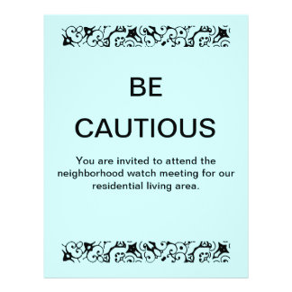 Be Cautious flyer