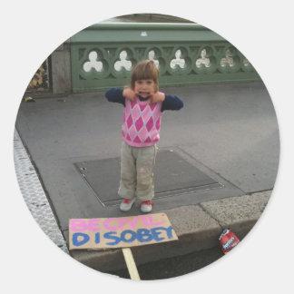 Be Civil - Disobey Sticker