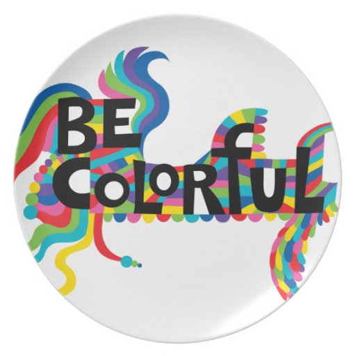 Be Colorful plate