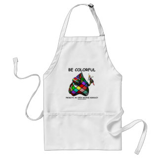 Be Colorful Promote An Open Source Mindset (Duke) Adult Apron