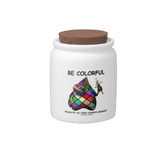 Be Colorful Promote An Open Source Mindset (Duke) Candy Jars
