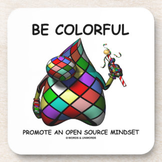 Be Colorful Promote An Open Source Mindset (Duke) Coasters