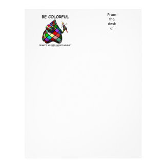 Be Colorful Promote An Open Source Mindset (Duke) Letterhead