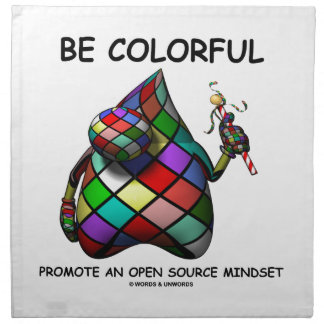 Be Colorful Promote An Open Source Mindset (Duke) Cloth Napkin