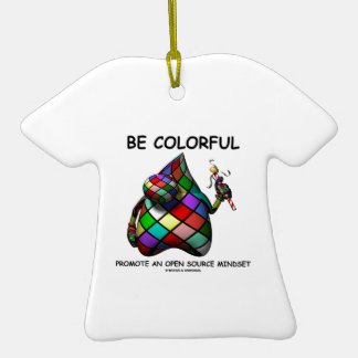 Be Colorful Promote An Open Source Mindset (Duke) Christmas Ornaments