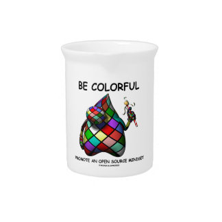 Be Colorful Promote An Open Source Mindset (Duke) Pitcher