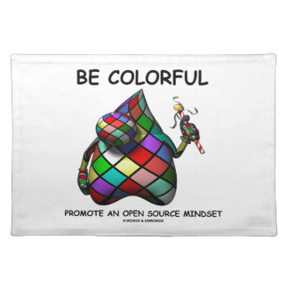 Be Colorful Promote An Open Source Mindset (Duke) Place Mats