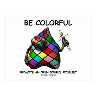 Be Colorful Promote An Open Source Mindset (Duke) Postcard