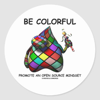 Be Colorful Promote An Open Source Mindset (Duke) Sticker