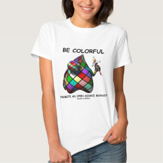 Be Colorful Promote An Open Source Mindset (Duke) T-Shirt