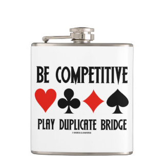 Be Competitive Play Duplicate Bridge 4 Card Suits Flask