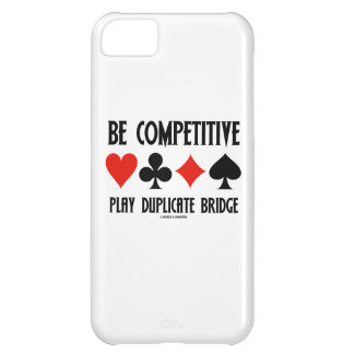 Be Competitive Play Duplicate Bridge Cover For iPhone 5C