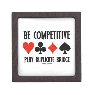 Be Competitive Play Duplicate Bridge Jewelry Box