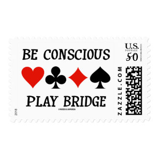 Be Conscious Play Bridge (Four Card Suits) Postage
