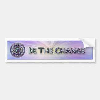 Be Cool Be the Change Bumper Sticker