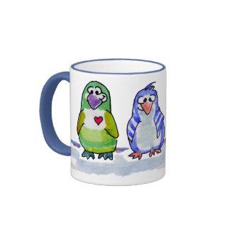 Be Cool Cartoon Penguins Ringer  Mug