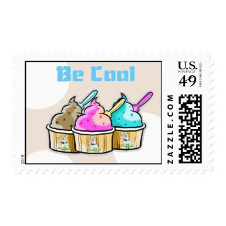 be cool ice cream stamps