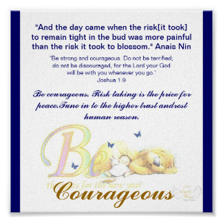 Be Courageous-Customize Poster