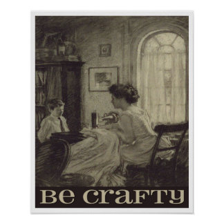 Be Crafty Inspiration Poster