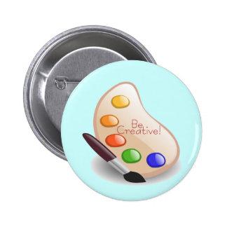 Be Creative 2 Inch Round Button