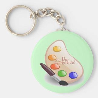 Be Creative Basic Round Button Keychain