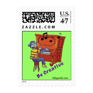 Be Creative Postage Stamp