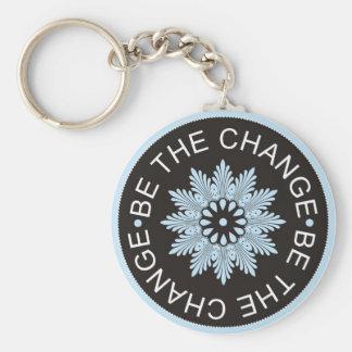 ~Be de tres citas de la palabra el Change~ Llavero Redondo Tipo Pin