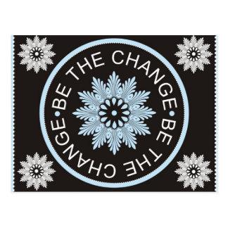 ~Be de tres citas de la palabra el Change~ Tarjetas Postales