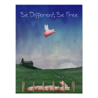 Be Different, Be Free Poster