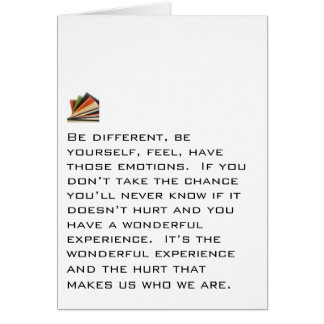 Be Different, Be Yourself Card