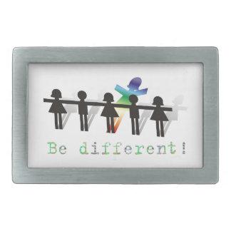 Be different! rectangular belt buckles