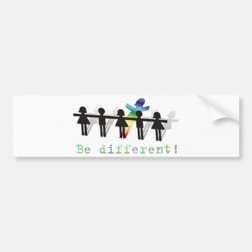 Be different! bumper sticker