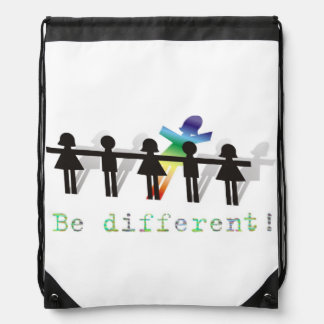 Be different! drawstring backpack